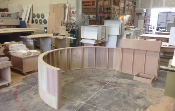 Fabrication of reception desk