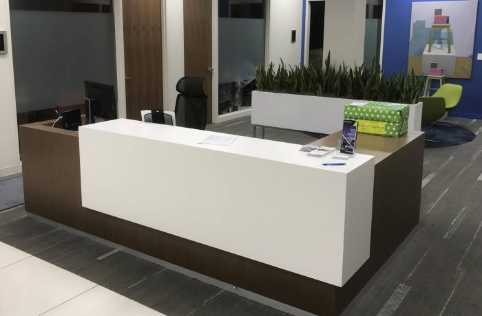 Reception Desk at Lincoln Industries