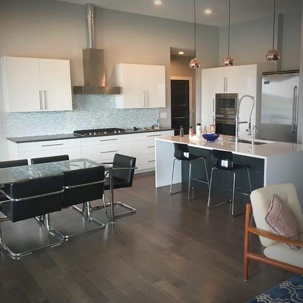 Sleek High Gloss White Kitchen