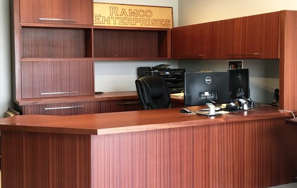 Wood Veneer Reception Desk